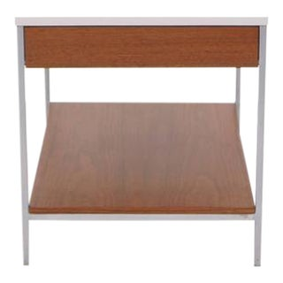 George Nelson for Herman Miller End Table, Rare White Laminate Top Version For Sale