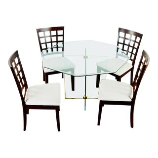 Contemporary Vintage Dining Table & Chairs - 5 Pieces