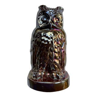 Early 20th Century Cast Iron Owl Doorstop For Sale