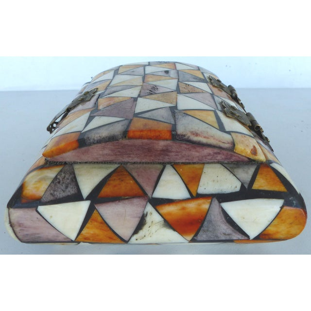 Inlaid Over-Dyed Bone Boxes - A Pair - Image 5 of 10