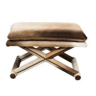 Modern X Form Hide Bench For Sale