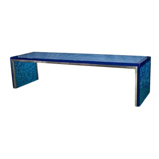"Organic Modern ""Big Blue"" Running Waters Bench For Sale"