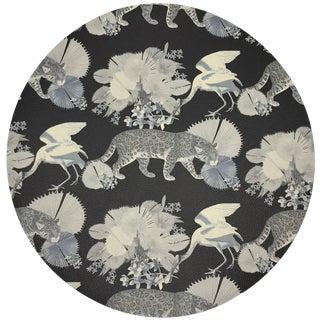 """Nicolette Mayer Leopard Walk Black16"""" Round Pebble Placemats, Set of 4 For Sale"""