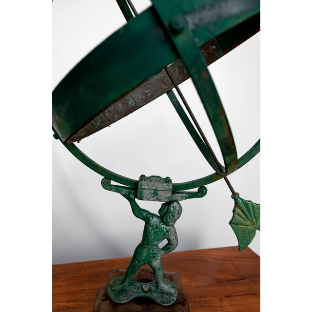 1940 the Archer Swedish Armillary/Sundial on Wood Base For Sale - Image 4 of 9