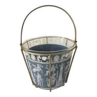 Jeannette Glass Mid-Century Ice Bucket For Sale