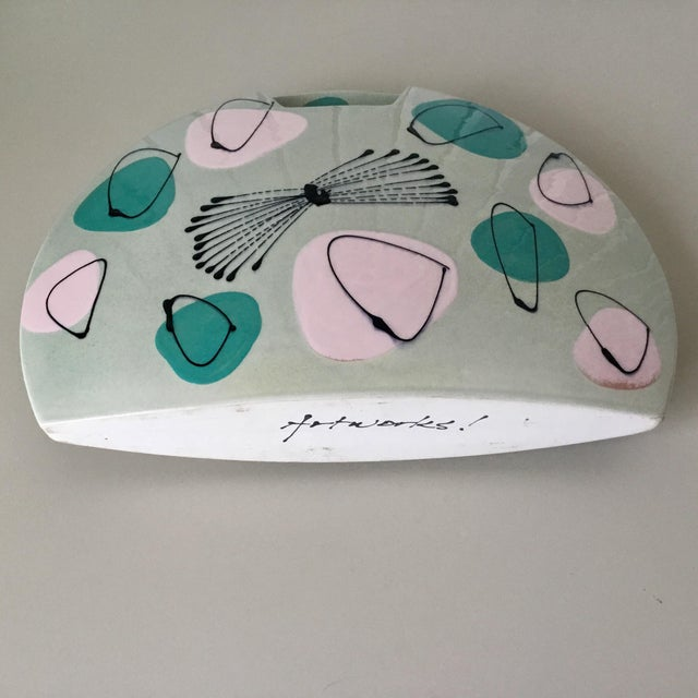 Mid-Century Atomic Pastel Pillow Vase For Sale - Image 4 of 7