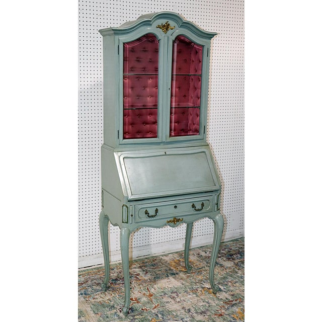 French French Louis XV Style Secretary Desk For Sale - Image 3 of 12
