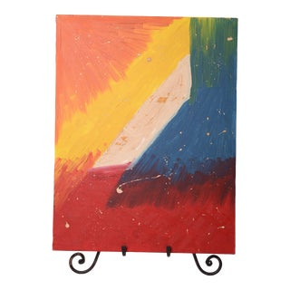 Abstract Oil Painting Eclectic Rainbow Original Art For Sale