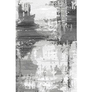"Abstract Grey Area Rug - 6'8"" x 9'8"""