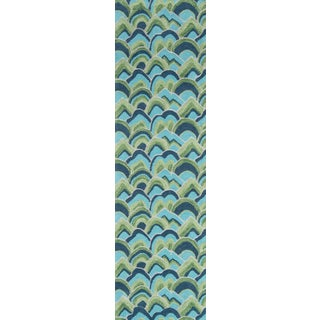 """Madcap Cottage Embrace Cloud Club Green Area Rug 2'3"""" X 8' Runner For Sale"""