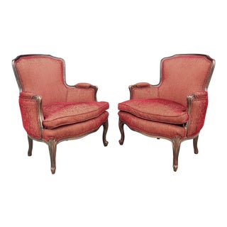 Vintage Henredon French Regency Style Upholstered Chairs- a Pair For Sale