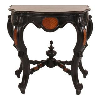 19th Century Italian Ebonized Console Table For Sale
