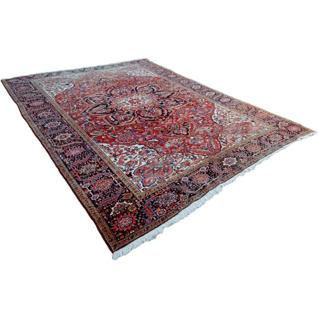 """Islamic Antique Persian Heriz Rug - 9' 11"""" by 13' 1"""" For Sale - Image 3 of 8"""