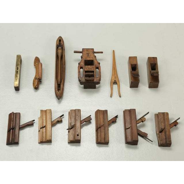 Antique French Woodworking Tools - Collection of 13 For Sale - Image 9 of 9
