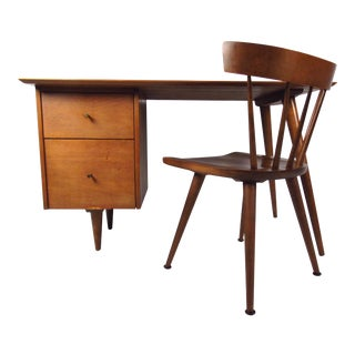 Paul McCobb Planner Group Desk and Chair For Sale