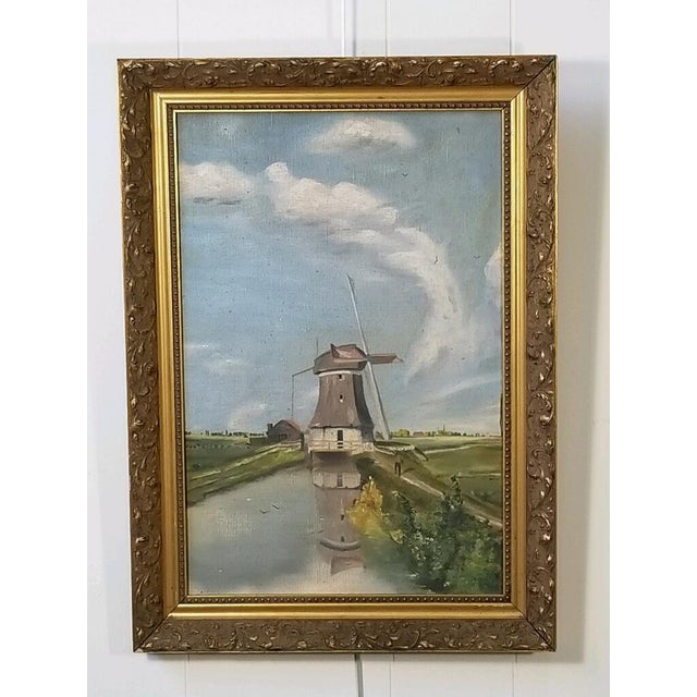 Antique Continental Impressionist Oil Painting For Sale - Image 12 of 13