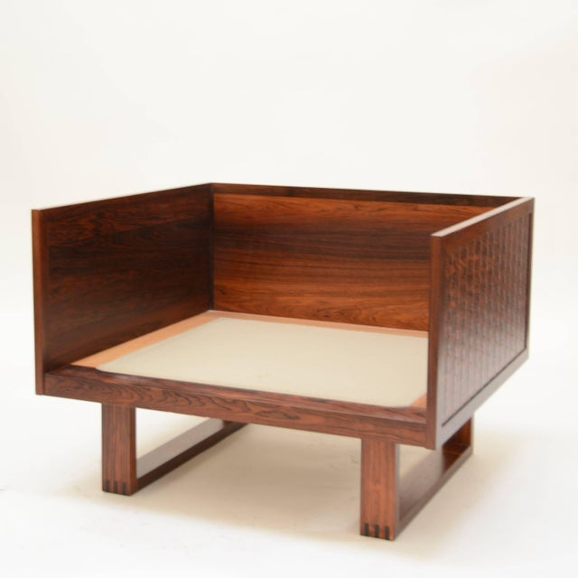 Poul Cadovius Chair in Rosewood for France & Son For Sale In Los Angeles - Image 6 of 11