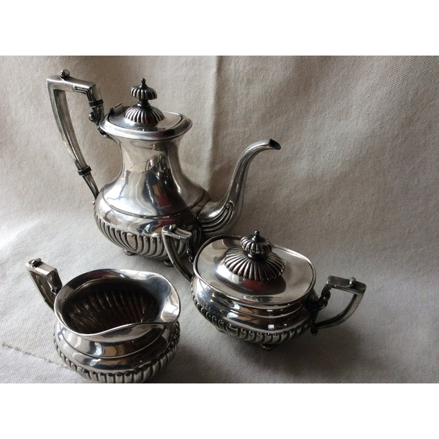 Vintage English Silverplate Georgian Style Coffee Set - Set of 3 For Sale - Image 6 of 8