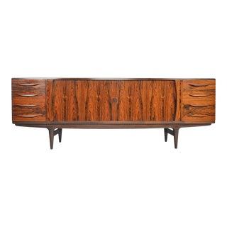 Johannes Andersen Model U15 Tambour Rosewood Credenza For Sale
