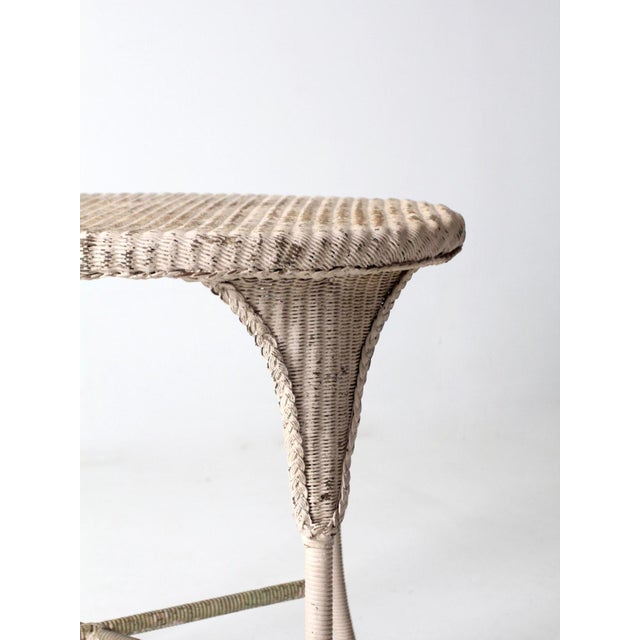Antique Wicker Side Table For Sale - Image 10 of 13