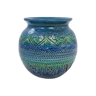 Italian Bitossi Pottery Vase For Sale