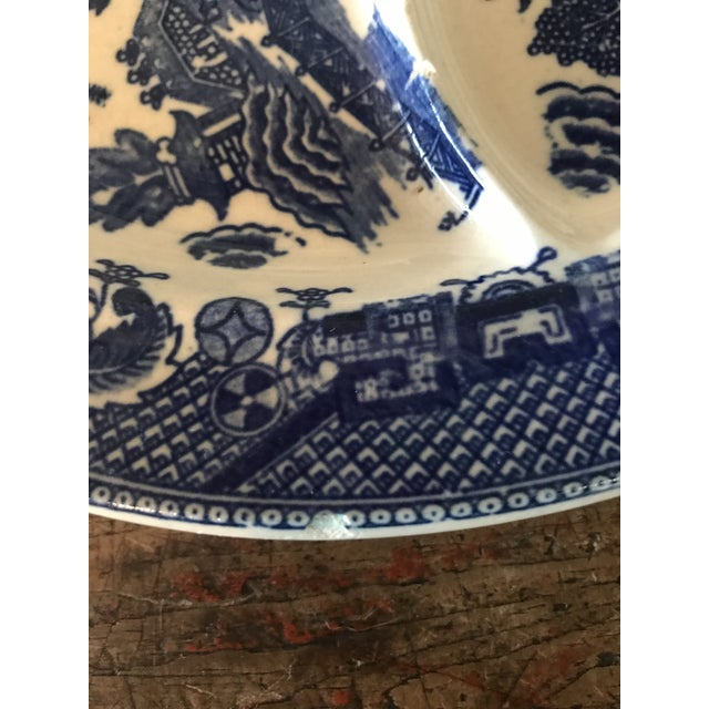 Old Blue Willow Divided Grill Plate For Sale In Los Angeles - Image 6 of 9