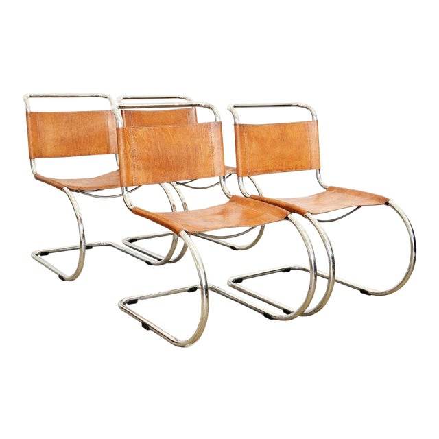 Set of Six Cantilever Chairs by Mies Van Der Rohe For Sale