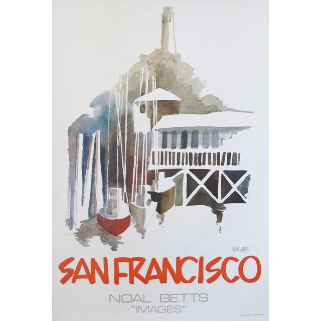 1980 American Noal Betts Travel Poster, San Francisco For Sale