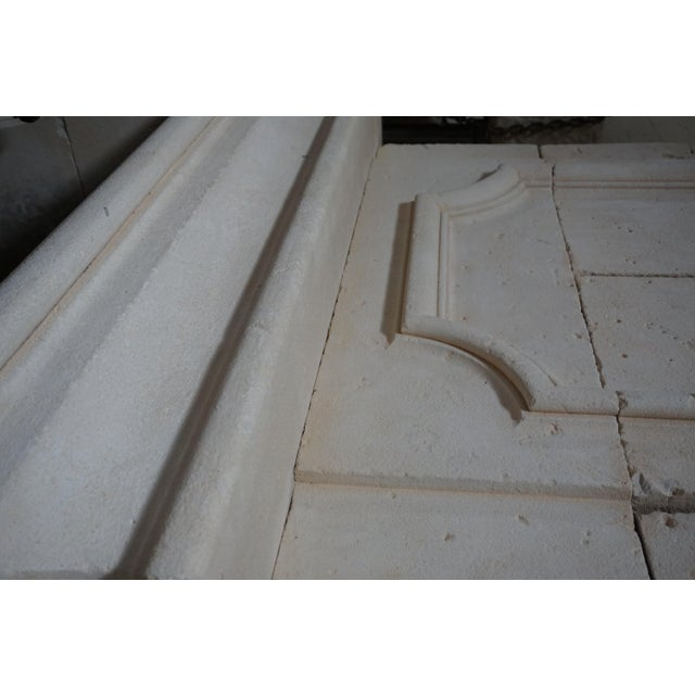 17th Century Louis XIII Limestone Mantel with Trumeau For Sale - Image 5 of 6