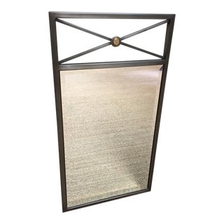 Contemporary Custom Made Iron Mirror For Sale