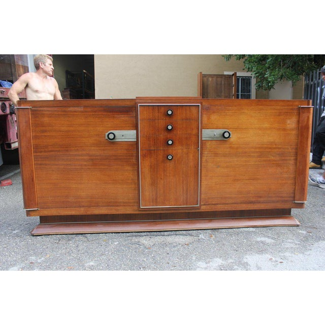 Art Deco 1930s French Art Deco Dominique Masterpiece Sideboard/Buffet For Sale - Image 3 of 11