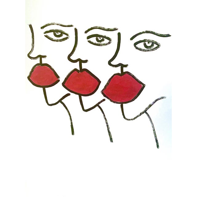 Abstract Large Abstract Faces Drawing For Sale - Image 3 of 3