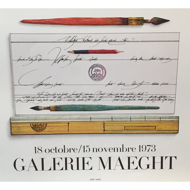1973 Original Maeght Steinberg Poster - Image 4 of 4