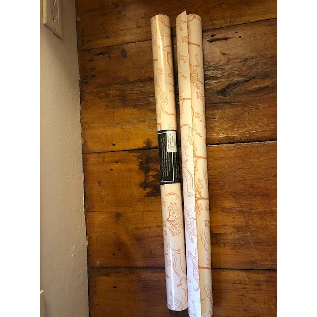 Safari Hygge & West/Rifle Paper Co Blush Safari Wallpaper - A Pair For Sale - Image 3 of 3