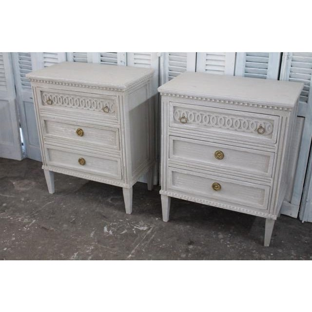 20th Century Swedish Gustavian Style Nightstands - A Pair For Sale - Image 4 of 12