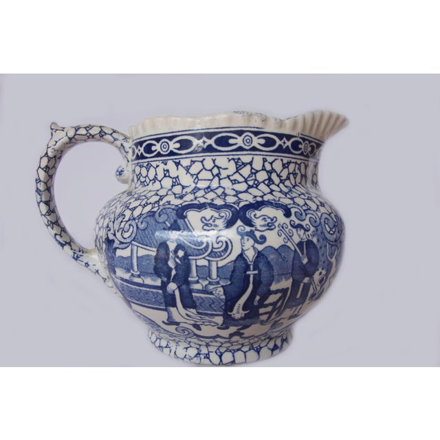 1930's Vintage William Adams Chinese Bird Pattern Bowl & Jug For Sale - Image 9 of 13