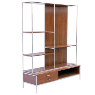 Paul McCobb Linear Group for Calvin Walnut Room Divider For Sale