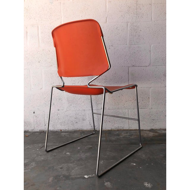 Vintage Mid Century Modern Matrix Krueger Stackable Chairs- Set of Two. For Sale In Miami - Image 6 of 13