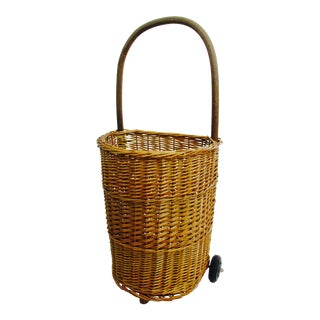 Boho Chic Rattan Wicker Farmers Market Basket