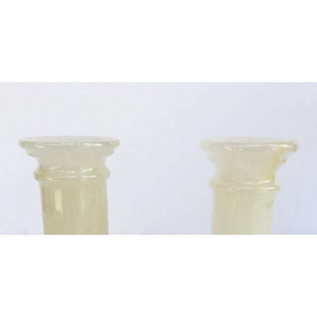 Black Onyx Doric Columned Candle Holders -A Pair For Sale - Image 8 of 12