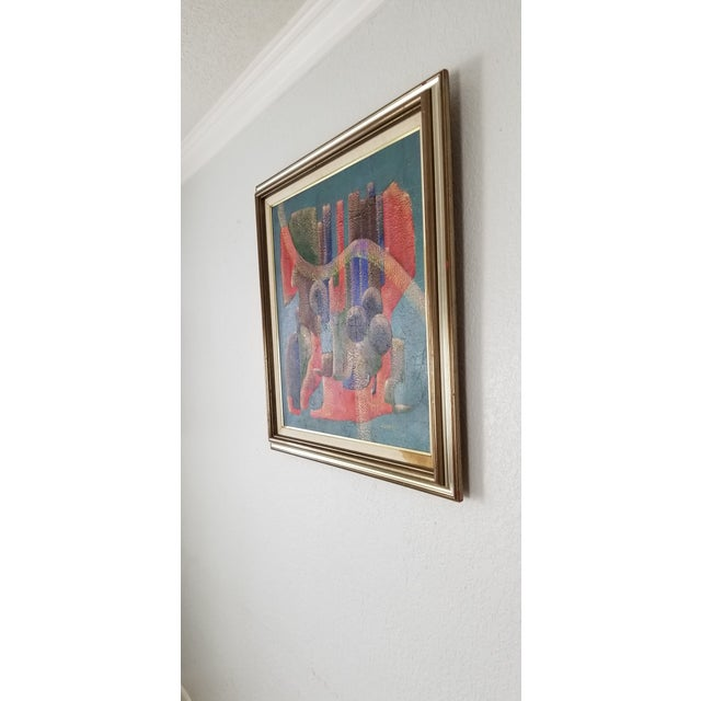 1990 Anna Goncharova Postmodern Style Abstract Painting For Sale - Image 4 of 13