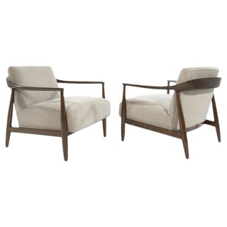 1950s Danish Modern Sculptural Lounge Chairs - a Pair For Sale
