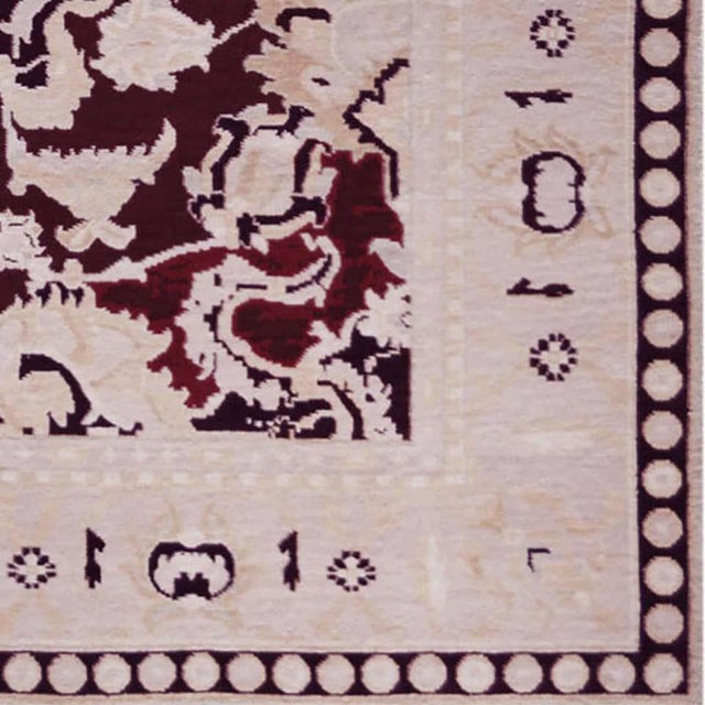 Handwoven Persian Agra Rug For Sale In Los Angeles - Image 6 of 8