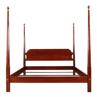 Ethan Allen Knob Creek Collection Mahogany King Size Poster Bed For Sale