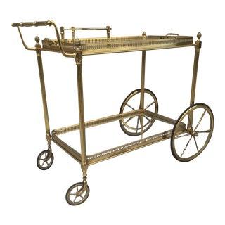 Brass Italian Bar Cart For Sale