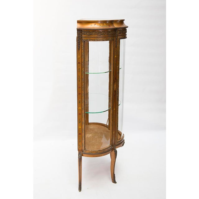 Gilded Vitrine Curio Cabinet For Sale - Image 5 of 10