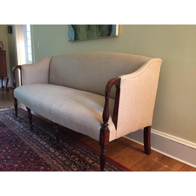 Antique Sheraton Mahogany Sofa - Image 3 of 6