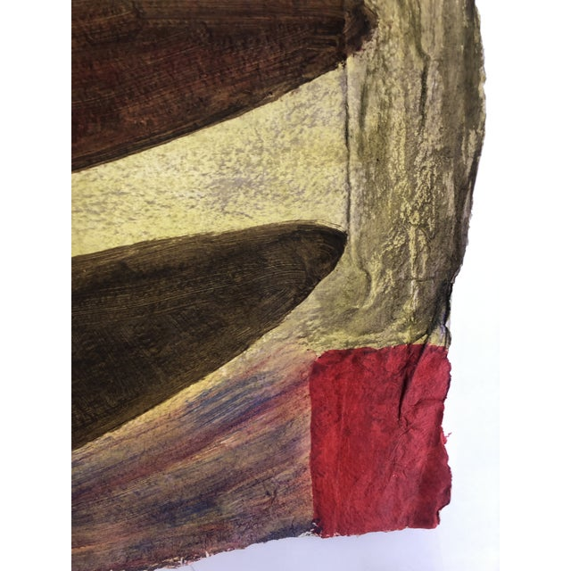 1950s 1950s Vintage Richard M. Goodwin Mid-Century Modern Abstract Painting For Sale - Image 5 of 7
