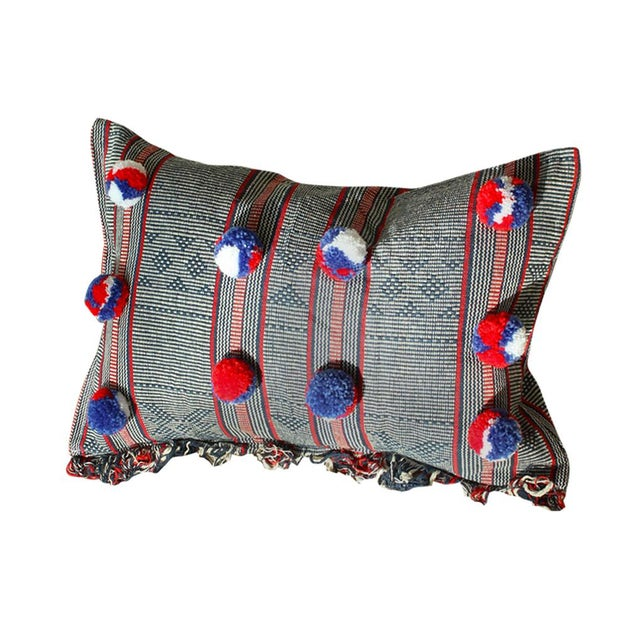 Sumba Ikat Handwoven Decorative Pillowcase - Holiday Cruise Pillow Collections No. 1 For Sale In San Diego - Image 6 of 6