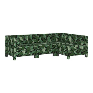 Banana Palm Black 4 Piece Sectional For Sale